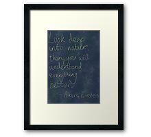 Nature Einstein Quote Framed Print