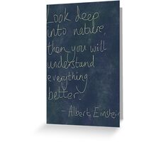 Nature Einstein Quote Greeting Card