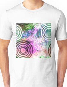 Grungy Pink/Green Circle Pattern Unisex T-Shirt