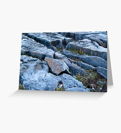 Limestone Pavement Greeting Card