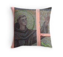 St, Anthony of Padua Behind Bars--Greenpoint revisited Throw Pillow