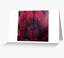 water lily diptych Greeting Card
