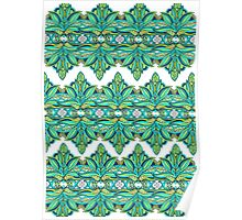 Duplicated Pattern green/blue/teal Poster