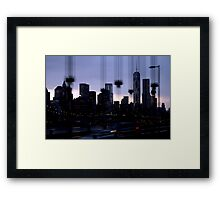 NYC Cityscape Framed Print