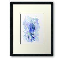 mycroft holmes - watercolor splatter Framed Print