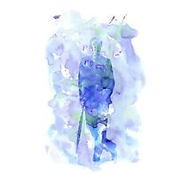 mycroft holmes - watercolor splatter Photographic Print