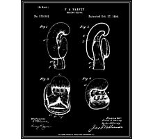 Boxing Glove Patent - Black Photographic Print