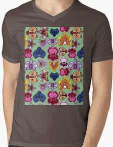 orchids Mens V-Neck T-Shirt