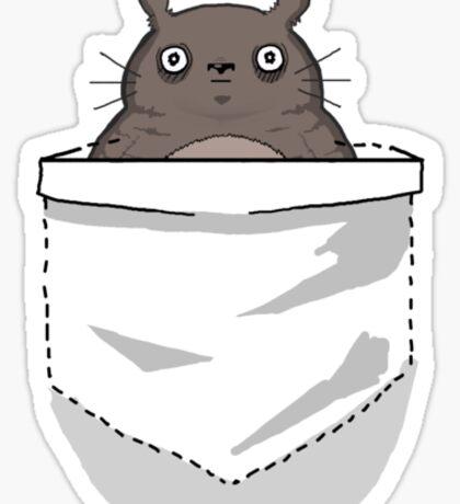 Creepy Pocket Totoro Sticker