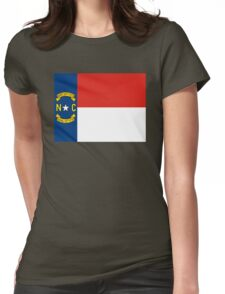 north carolina state flag Womens Fitted T-Shirt