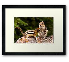 WHO SAY'S I'M SHARING? Framed Print