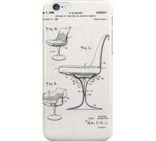 Eero Saarinen - Tulip Arm Chair - Patent Artwork iPhone Case/Skin