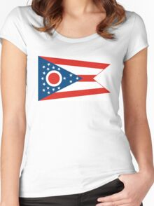 ohio state flag Women's Fitted Scoop T-Shirt