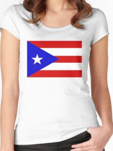 flag of Puerto Rico Women's Fitted Scoop T-Shirt