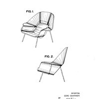 Eero Saarinen - Womb Chair - Patent Artwork by fascinatingly