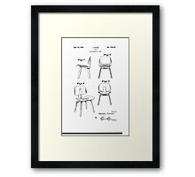 Charles Eames - Molded Plywood Lounge Chair - Patent Artwork Framed Print