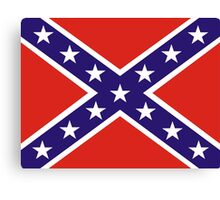 confederate flag Canvas Print