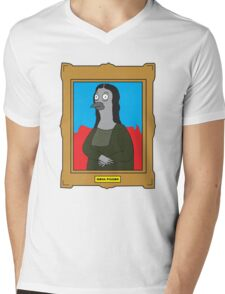 Mona Pigeon Mens V-Neck T-Shirt