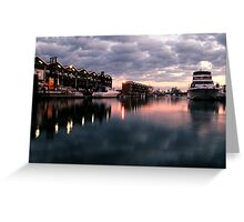 St Kilda Marina. Greeting Card