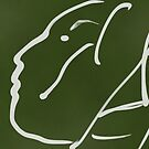 Abstact Female Head -(060914)- Digital artwork/iPad: Zen Brush App by paulramnora