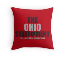 The Ohio Statement National Champions Throw Pillow