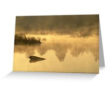 The Golden Morning Greeting Card