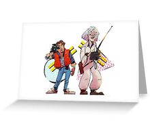 Back to the Future Past Greeting Card