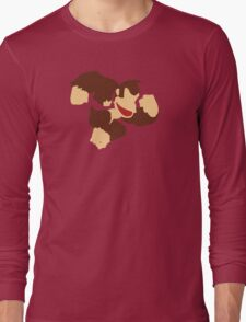 Donkey Kong w/ Color Tie Long Sleeve T-Shirt