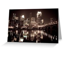 Minneapolis At Night Greeting Card