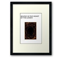YU-GI-OH heart if the cards Framed Print