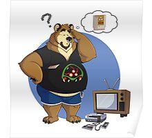 Gamer bear Poster