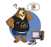 Gamer bear Photographic Print