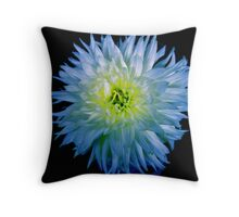 Blue Bloom Throw Pillow