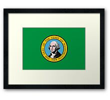 Washington Flag Framed Print