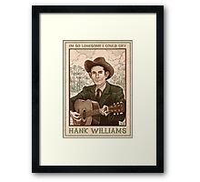 Hank Williams - I'm So Lonesome I Could Cry - Poster Framed Print