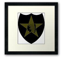 2nd Infantry Division - Subdued Framed Print