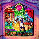 Beauty & The Beast Glass Art by GiraffesAreCool
