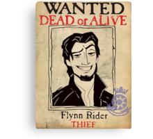 Flynn Rider: Wanted Poster Canvas Print