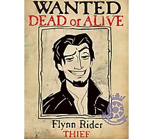 Flynn Rider: Wanted Poster Photographic Print