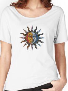 Celestial Mosaic Sun/Moon Women's Relaxed Fit T-Shirt