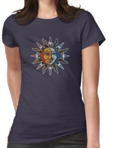 Celestial Mosaic Sun/Moon Womens Fitted T-Shirt