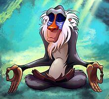 Rafiki Meditating by GiraffesAreCool