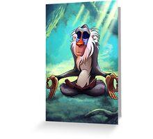 Rafiki Meditating Greeting Card