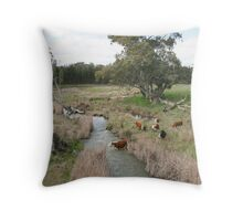 """""""Cattle Crossing"""" Throw Pillow"""