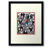 Agent Carter-A pop of Color Framed Print