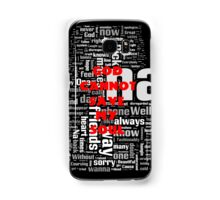 Falling in Reverse Word Cloud Samsung Galaxy Case/Skin
