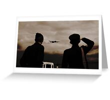 A Salute to our Servicemen. Greeting Card