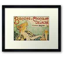 'Biscuits and Chocolat Delacre' by Privat Livemont (Reproduction) Framed Print