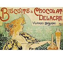 'Biscuits and Chocolat Delacre' by Privat Livemont (Reproduction) Photographic Print