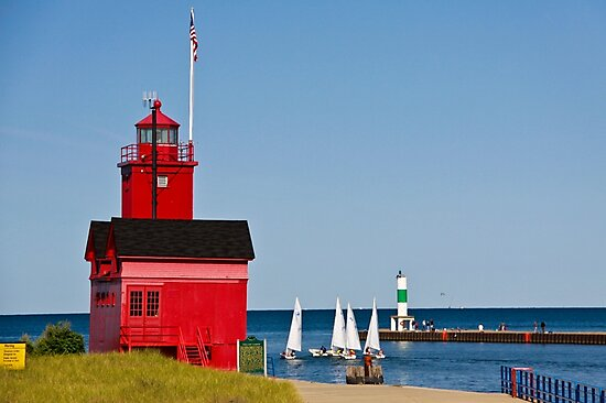 """Big Red"" Lighthouse in Holland, Michigan by Robert Kelch, M.D."